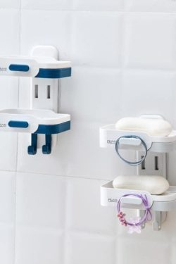 Double soap shelf