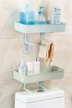 Double wc shelf