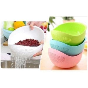Rice washing bowl