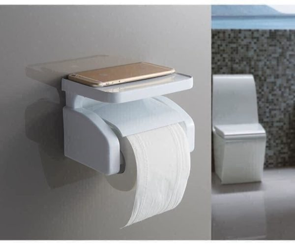 T roll holder with shelf