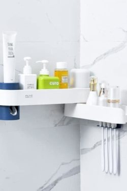 Toothbrush holder and paste dispenser