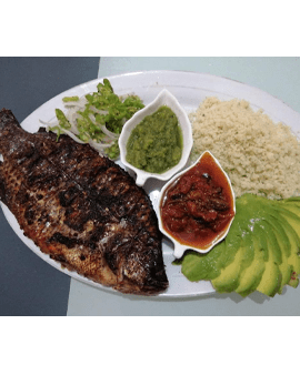 Akyeke with Grilled Tilapia
