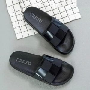 black chess leather top slides