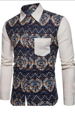 casual long sleeve shirt for men