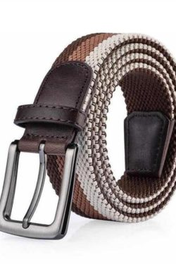 classic hook brown shade weave belt