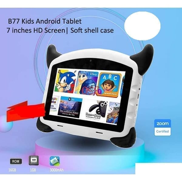 B77 kids Android Tablet