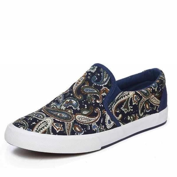 Men Slip On Loafer multi coloured with white sole