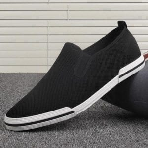 Men Slip On Loafer black with white sole