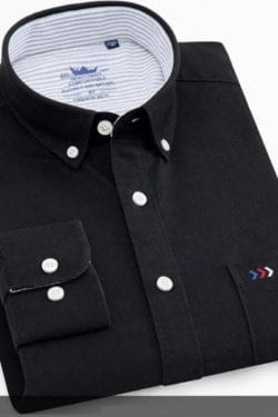 nice black cotton corporate shirt