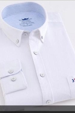 nice white cotton corporate shirt