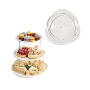 3 Tier Collapsible Snack Serving Tray